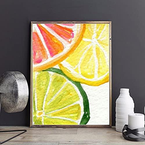 Nfjrrm 5d Cerchio Pieno Diamante Ricamo Diamante Frutta Pittura Paesaggio Punto Croce Rotondo Strass Art Kit Decorazione 45x60 cm