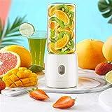 YLLN Licuadora portátil, licuadora pequeña, Recargable por USB, Seis Cuchillas, 3D, 400 ml, batidora de Frutas, Cocina fácil de Limpiar