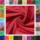 maDDma 5m Futterstoff Breite 148cm, Farbwahl, Farbe:rot