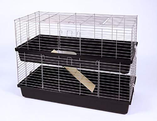 Ollesch Meerschweinchenkäfig Hasenkäfig Doppelkäfig Käfig 1,2 Meter