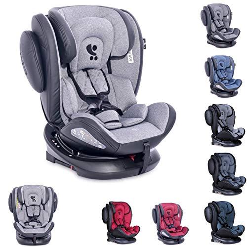 Lorelli asiento infantil Aviator SPS Isofix grupo 0+/1/2/3 (0-36 kg) 0-12 años, color:gris claro