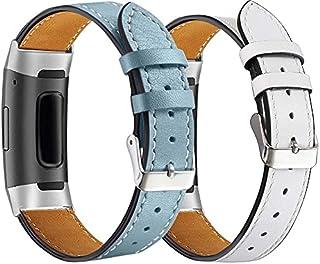 Chainfo Correa de Reloj de Piel con Hebilla Compatible con Fitbit Charge 4 / Charge 4 SE/Charge 3 SE/Charge 3, Estilo de V...