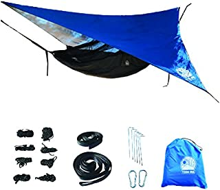 Terra Ora Fully Equipped Super Lightweight Camping Hammock with Mosquito Net and Rain Fly