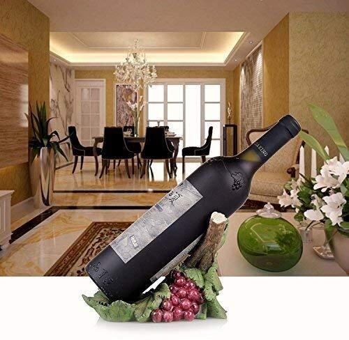 HJXSXHZ366 Estante de vino montado en la pared de estilo europeo de resina, estante de vino pequeño (color: C)