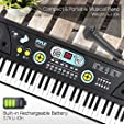Digital Piano Kids Keyboard - Portable 61 Key Pian... #1