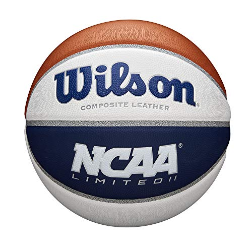 Save %15 Now! Wilson NCAA Limited Basketball - Royal/White, Size 7