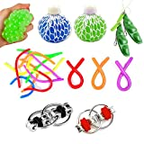 OMZGXGOD Jouets Anti-Stress,Sensory Jouet, Fiddle Toys Autism Sensory Toys Fidget Toys Pas Cher Sensory Jouet Corde pour Calmer Relaxer Adolescent Enfant Adulte, Fidget Strings Anti Stress Jouet
