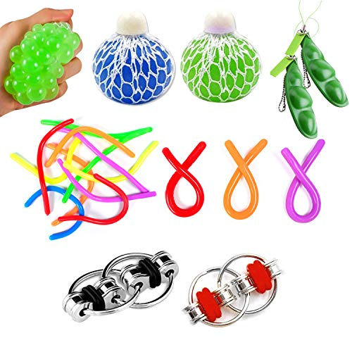 OMZGXGOD 9pcs Stress Spielzeug Set,Fidget Spielzeug, Fiddle Toys Autism Sensory Toys ,Zappelspielzeug für Autismus Kinder und Erwachsene , für ADHS Anti Stress Angst Stressabbau