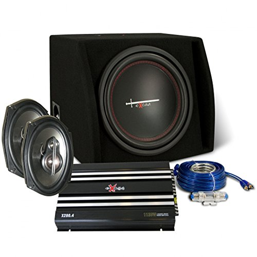Pak KFZ-Audio Excalibur x2trunkp. luidsprekers, subwoofer, podium, kabel