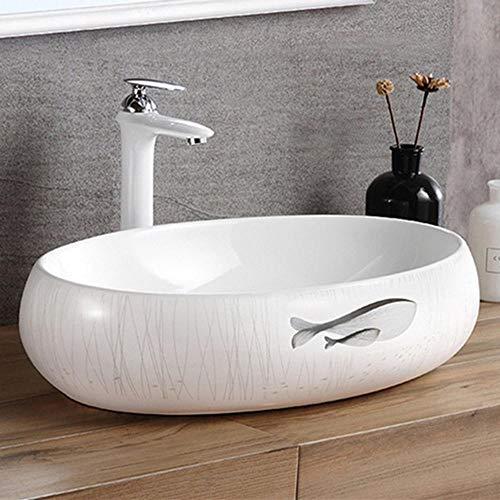 Lowest Price! DHUYUN Vessel Sinks Modern Geometry Bathroom Vessel Sink Above Counter Art Basin for C...