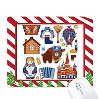 ロシアの国家の象徴のランドマークのパターン ゴムクリスマスキャンディマウスパッド