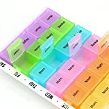 Homesoul Celebrationgift 7 Day Plastic Pill Box with Removable Tray Medication Organiser Planner