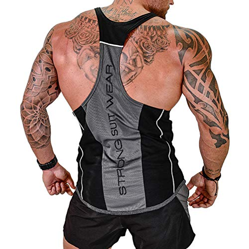 Vergiss Herren Athletic lässig Tank top,T-Shirt Unterhemden, Ärmellos Weste, Muskelshirt,Fitness Shirt (Black1, XXXL)