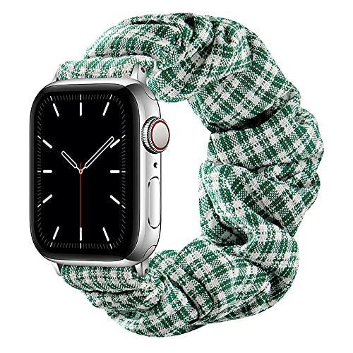 AdirMi Scrunchie Correa Elástica Compatible con Apple Watch Series SE 6 5 4 3 2 1, Patrón Estampado Cómoda Pulsera De Tela Compatible con iWatch 42mm/44mm 38mm/40mm,A,42/44mm(L)