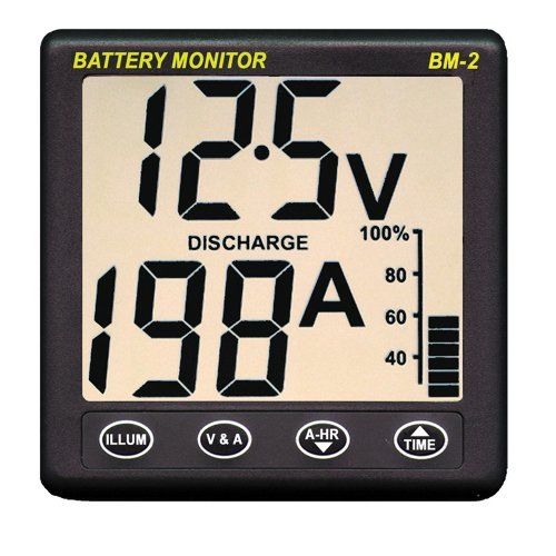 CLIPPER BM-2 BATTERY MONITOR WITH SHUNT 200AMP