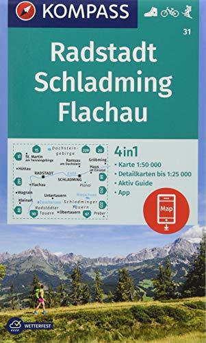 KOMPASS Wanderkarte Radstadt, Schladming, Flachau: 4in1 Wanderkarte 1:50000 mit Aktiv Guide und Detailkarten inklusive Karte zur offline Verwendung in ... Skitouren. (KOMPASS-Wanderkarten, Band 31)
