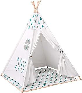 Baby tipi tält träd flicka semester dekoration tält litet trä tält lekhus jul vikbara barn fotografi tält tipi camping täl...