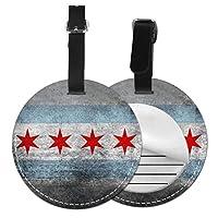 ネームタグ バッグ用ネームタグ 高齢者のシカゴの旗, ネームプレート スーツケース 紛失防止 旅行 出張 対応用 荷物タグ