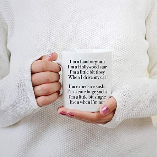 I 'M A Lamberghini I' M A Hollywood Star Taza de café Novedad Taza de té de cerámica Taza Un Poco Alexis, Taza de Oficina Schitt 'S Creek para Hombres y Mujeres