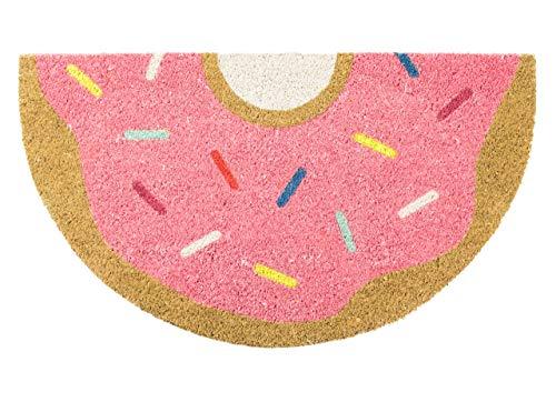 Fisura DM0492 Felpudo Original y Divertido Entrada Casa Forma Donuts 40x70cm Rosa