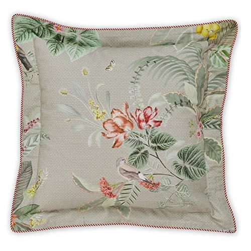 PIP Studio Kissen quadratisch Floris | Khaki - 45 x 45