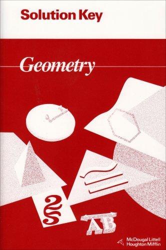 By Ray C. Jurgensen Geometry: Solution Key [Paperback] -  Houghton Mifflin School