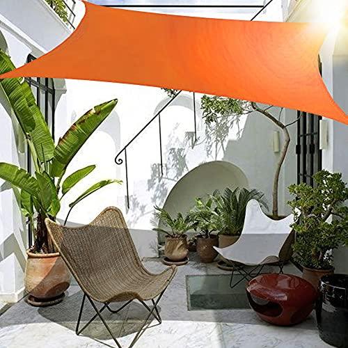 Wsaman 8x4m Sonnensegel Rechteckiges mit UV Schutz, 100% HDPE inkl. Befestigungsseile, Sonnensegel Sonnensegel Sonnenschutz Wasserabweisend mit Befestigungsset für Garten/Balkon/Terrasse,Dark Orange