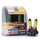 Hipro Power 9006 55W 3000K Golden Yellow Xenon HID Halogen Headlight Bulbs - Low Beam