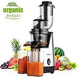 Homever Licuadora prensado frio, extractor de zumo licuadoras para verduras y frutas boca ancha...