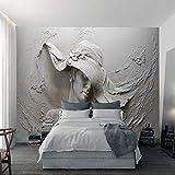 NIdezuiai Murales Papel Pintado,Grabado En Estéreo Caracteres Cemento Escultura Personalizar 4D Wallpaper Art Póster De Impresión HD De Salón Decoracion Gran Mural De Seda,200Cm(W)×100Cm(H)