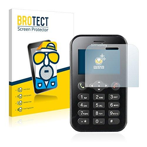 BROTECT 2X Entspiegelungs-Schutzfolie kompatibel mit Simvalley Mobile RX-482 Pico Bildschirmschutz-Folie Matt, Anti-Reflex, Anti-Fingerprint