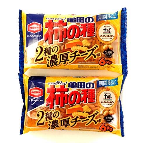 【まとめ買い】亀田製菓 亀田の柿の種 2種の濃厚チーズ味 6袋詰 ×2