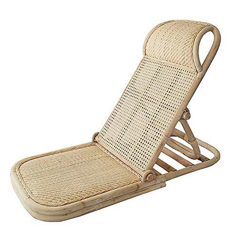TY-ZWJ Rattan Beinless Stuhl, Multifunktionaler Strandstuhl Folding Recliner Kreative Outdoor Camping Freizeitstuhl