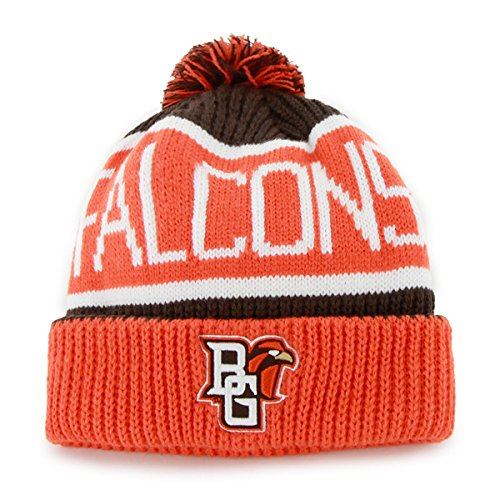 '47 Bowling Green State Falcons Orange Cuffed Calgary Beanie Hat with Pom - NCAA Cuff Winter Knit Toque Cap