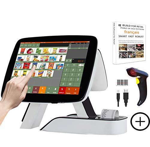 ZHONGJI Tout en un Caisse enregistreuse avec Imprimante thermique intégrée Système de point de vente Écran tactile Détaillant Logiciel