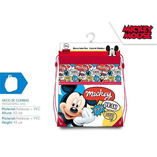 Mickey - Borsone in Schiuma con Lacci, 42 cm, per Palestra, Fitness e Esercizio per Bambini, Unisex, Multicolore, 42 cm
