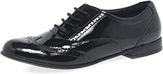c180fbef20f Angry Angels Chicas Senior Matilda Zapatos De La Escuela Junior 6.5 Black  Patent Wide