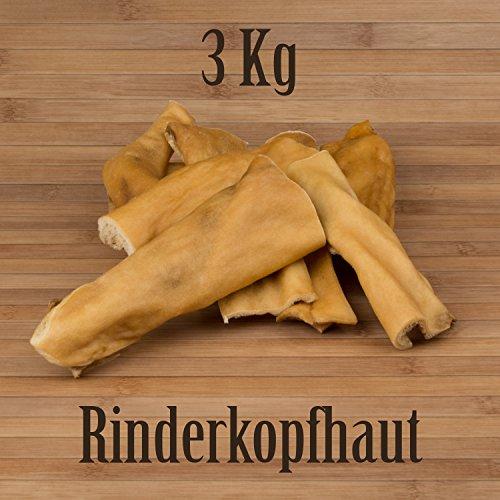 3 Kg Rinderkopfhaut Rinderhaut - wie Rinderohren Ochsenziemer Kauartikel Kausnack
