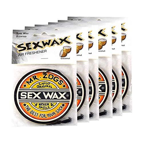Sex Wax Air Freshener Coconut 6-Pack