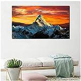 wzgsffs Himalaya-Gebirge Gold Himmel Natur Wandkunst