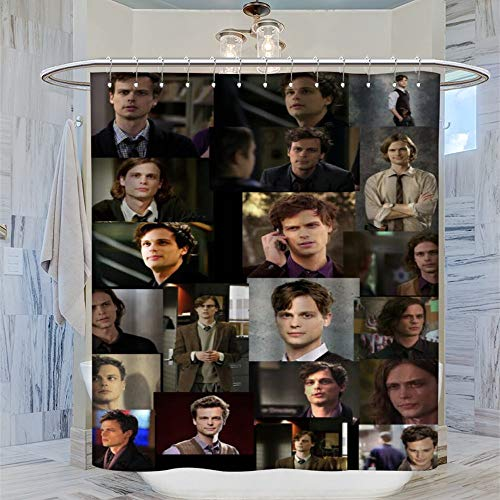 DRAGON VINES Ma-tthew Gr-ay Gub-ler Spencer Reid Duschvorhang, 183 x 183 cm, wasserdicht, mit 12 Kunststoffhaken, waschbarer Badvorhang