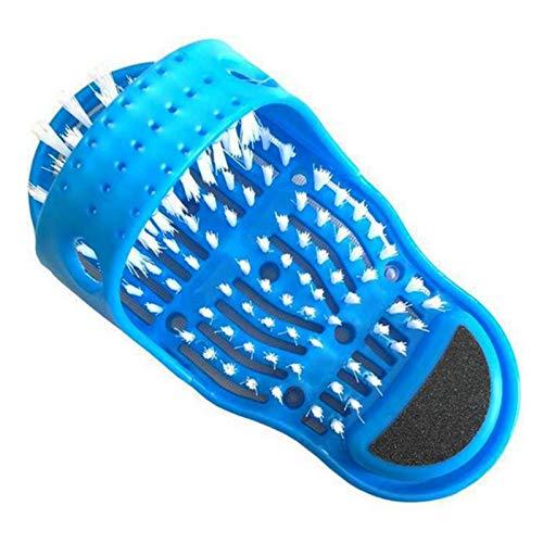 Zapatos De Baño con Cepillo Limpiador De Pies, Masajeador De Pies De Ducha, Zapatillas De Masaje De Pies, para Quitar El Peeling De Masaje De SPA De Ducha, 14 X28 X11.5 Cm (uno Montado)