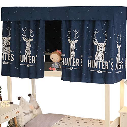 Almabner estudiantes, cortina para tienda de campaña de litera Dormitory, tela a prueba de polvo, ligera, cortina de cama con mosquitera, 3, Tamaño libre