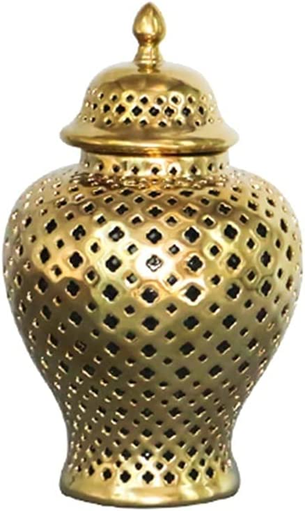 Ginger Jar Carved Lattice Decorative ! Super beauty product restock quality top! Temple Ceramic White Gi Animer and price revision