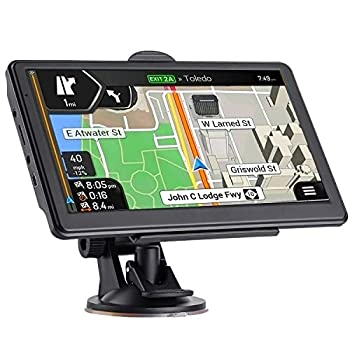 GPS Navigation for Car Latest 2021 Map 7 inch Touch Screen Car GPS 256-8GB Voice Turn Direction Guidance Support Speed and Red Light Warning Pre-Installed North America Lifetime map Free Update……