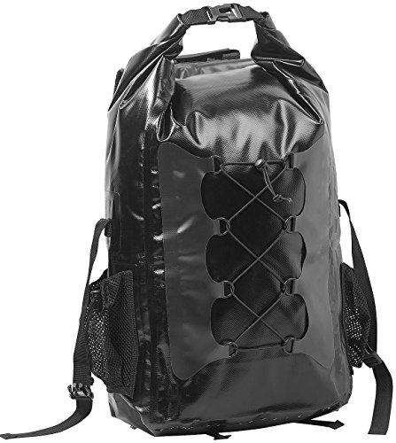 Semptec Urban Survival Technology Trekkingrucksack: Wasserdichter Trekking-Rucksack aus LKW-Plane, 30 Liter, schwarz (Wasserdichter Trekkingrucksack)