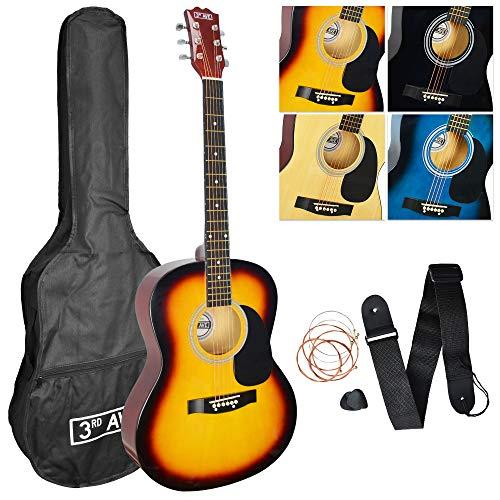3rd Avenue Acoustic Guitar Pack - Sunburst, STX10ASBPK