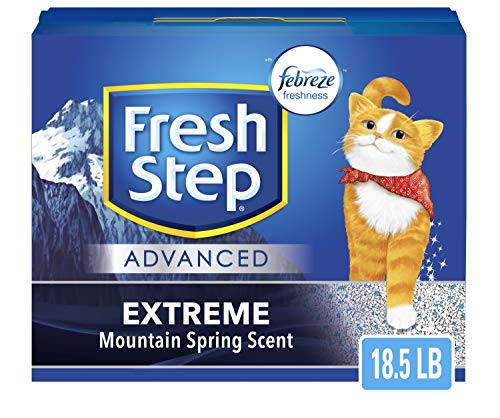 Fresh Step Advanced Extreme Clumping Cat Litter with Odor Control - Mountain Spring Scent, 18.5 lb (Package May Vary) (Package May Vary)