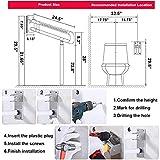 Wandstützgriff Stützhilfe Dusche WC Griff Aufstehhilfe Toiletten Stütz-Haltegriff Klappgriff Sicherheit Rutschfest Wandmontage Weiß - 8