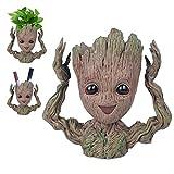 BabyGroot Maceta/soporte para bolígrafos, figura de acción innovadora de la película clásica I AM Groot, para decoración del hogar, plantas de acuario, regalos creativos para adultos y niños (Happay)